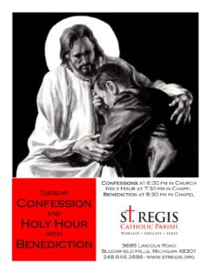 Tuesday Confession and Holy Hour with Benediction