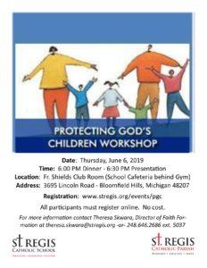 Protecting God's Children Workshop @ St. Regis