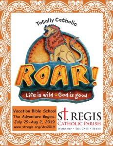 2019 Vacation Bible School @ St. Regis Catholic Parish
