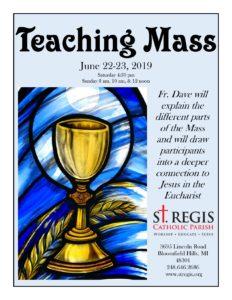 Teaching Mass @ St. Regis Catholic Parish