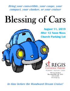 Blessing of Cars @ St. Regis Catholic Parish