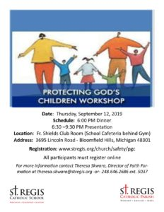 Protecting God's Children Workshop @ Fr. Shields Club Room
